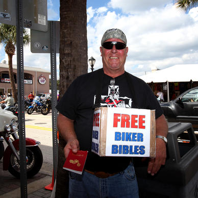 Art Hawk at 2012 Biketoberfest in Daytona Beach on October 18, 2012. Biketoberfest runs Oct 18-21.