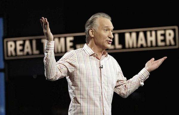 Bill Maher rehearses his monologue at CBS on the set of his show on Oct. 4, 2012.