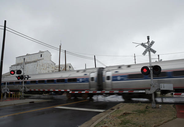 A high speed Amtrak train passes through Odell as IDOT and Amtrak offer the first demonstration run at 110 mph on a portion of the Chicago-to-St. Louis corridor.