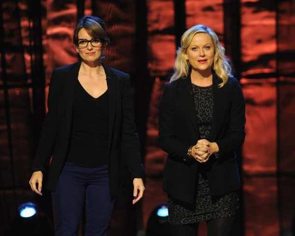 "The high-profile pairing of Tina Fey and Amy Poehler to host the Golden Globes was seen by some in the Hollywood Foreign Press Assn. as a little poke in the eye of the Academy of Motion Picture Arts and Sciences for its recent decision to announce its Oscar nominees three days before the 2013 Globes ceremony.  ""It is really a smart and wonderful choice,"" says HFPA member H.J. Park, who writes for the Korea Times and reviews movies for Radio Seoul. ""It's a coup against the academy who hates us.""  <br><br> <strong>Full story:</strong> <a target=""_blank"" href=""http://www.latimes.com/entertainment/envelope/goldstandard/la-et-mn-globes-fey-poehler-20121016,0,5607017.story"">Choice of Amy Poehler, Tina Fey keeps Globes in the conversation</a> 