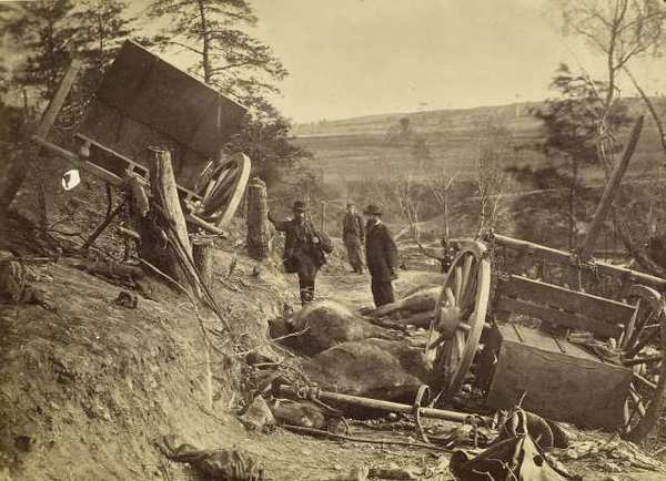 A scene after the Battle of Fredericksburg, May 3, 1863.