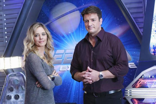 'Castle' visits the Final Frontier: Christina Moore and Nathan Fillion