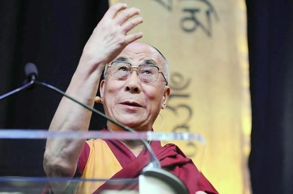 "His Holiness the Dalai Lama speaks about ""The Art of Compassion"" to a sold-out crowd at the O'Neill Center at Western Connecticut State University Thursday afternoon."