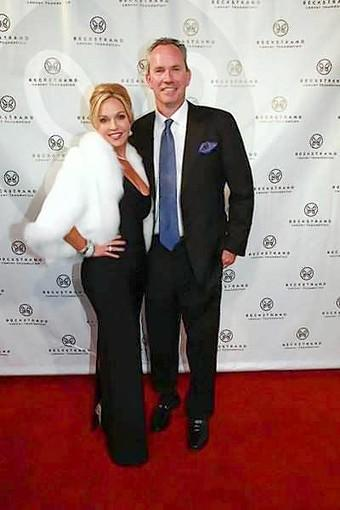 "Event chair Renetta and Blaine Caya at the 2012 Beckstrand gala ""An Evening In Russia at Moscow's Red Square."""