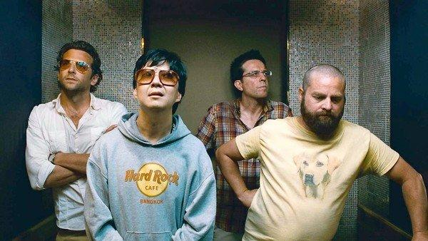 "A scene from ""The Hangover Part II"" with Bradley Cooper, left, Ken Jeong, Ed Helms and Zach Galifianakis."