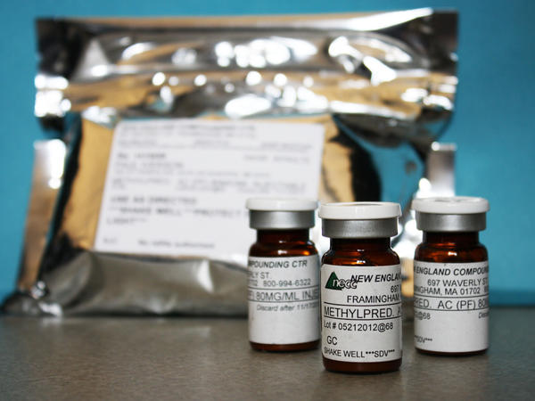 Vials of the injectable steroid product made by New England Compounding Center implicated in a fungal meningitis outbreak are seen before being shipped to the Centers for Disease Control and Prevention in Atlanta.