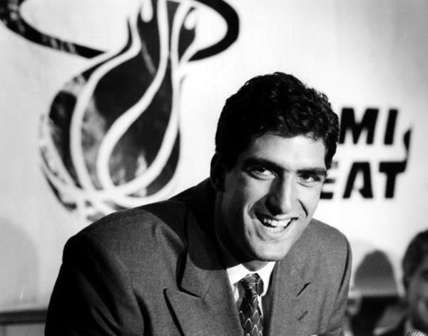 Rony Seikaly, at No. 9 in the first round, becomes the Heat's first NBA Draft pick.