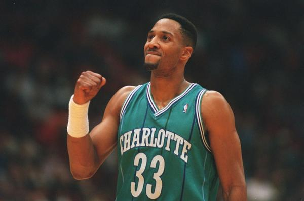 Center Alonzo Mourning is acquired in a trade from the Charlotte Hornets.