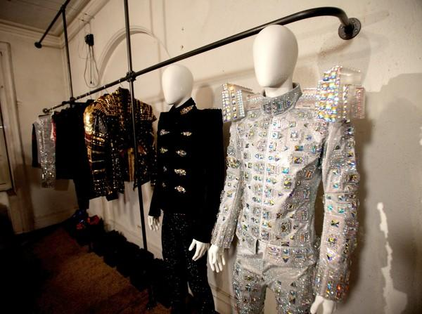 "Michael Jackson's concert costumes by Zaldy, above, can be seen in a feature included on the ""This Is It"" DVD."