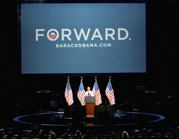 President Obama speaks at a concert Oct. 7 at the Nokia Theater at L.A. Live, part of a two-day fundraising swing through Los Angeles and San Francisco. He recently picked up 122 new bundlers – supporters who bundle large checks for his reelection effort.