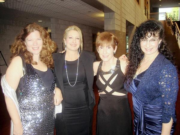 Enjoying the Bach Choir Gala Concert and Fundraiser, held at Zoellner Arts Center Oct. 6, were (from left) gala committee members Kristin Dundon, Dr. Joanne Regina, Dr. Marsha Snyder and committee chair Jane Kapinas.