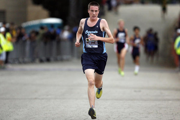 CV's Gabe Collison participates in cross country meet at Mt. SAC in Walnut on Saturday, October 20, 2012.