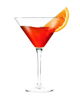 <b>7 ounces</b> cranberry tea, freshly brewed<br> <b>½ ounce</b> Cointreau<br> Orange slices, halved<br> Dried cranberries<br><br>  Pour the tea and Cointreau into a martini glass or footed coffee mug. Garnish with the orange slices and dried cranberries.