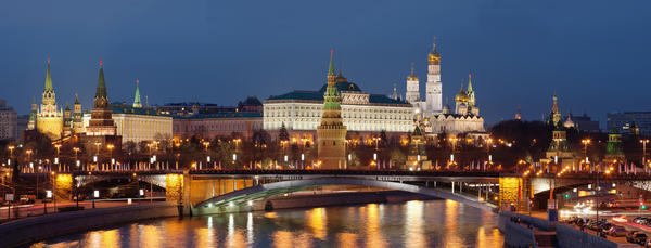 Moscow's skyline is a reflection of the capital city's extensive history. Dominated by quintessentially Russian landmarks like the onion domes of Saint Basil's Cathedral and the Seven Sisters, seven massive skyscrapers positioned equal distance from the Kremlin (not to mention the Kremlin itself), Moscow's skyline is unparalleled. Many travelers to the city take note that the skyline seems like a throwback to hundreds of years ago, as little of the new architecture has garnered as much prestige in recent years.