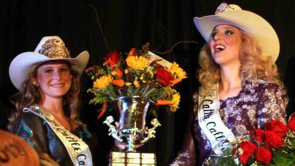 Kristen Sharp (right) receives awards after being announced Cattle Call queen on Saturday at the 2012 Brawley Cattle Call Queen Coronation in Holtville.