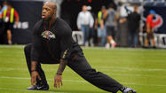 <a>Ravens</a> Pro Bowl outside linebacker Terrell Suggs is active for today's game against the Houston Texans at Reliant Stadium.