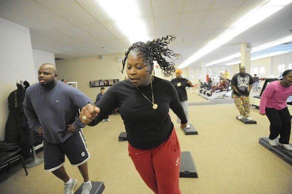 Working out at Family First Center