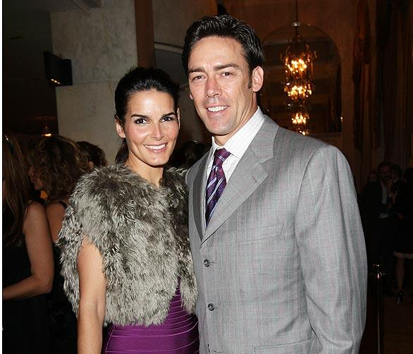 Actress Angie Harmon and her husband, former NFL player Jason Sehorn.