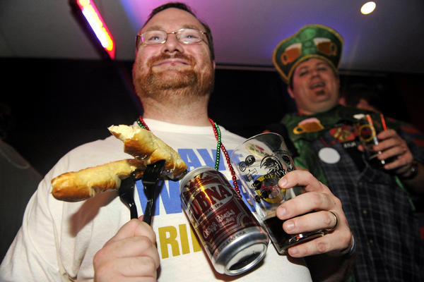Cullen Cummiskey joined fellow enthusiasts at the opening of Baltimore Beer Week at Power Plant Live on Friday.