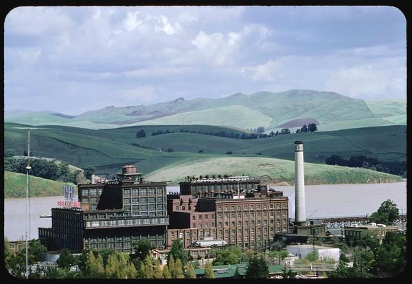 C&H sugar refinery, Carquinez Straits, California, 1958.