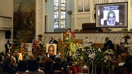 "In the midst of one of many tributes to former state Sen. Clarence M. Mitchell III at his memorial service in an Upton church Sunday night, hundreds of family members, friends and fellow politicians broke out into an impromptu singing of the hymn ""Lift Every Voice and Sing."""