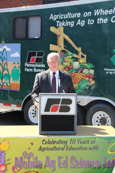 Louis Sallie, who serves as Pennsylvania Farm Bureau (PFB) Administrative Secretary and Pennsylvania Friends of Agriculture Foundation (PFAF) executive director, discusses the success and importance of the Mobile Ag Ed Science Lab program.