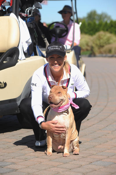 Cristie Kerr attends Birdies For Breast Cancer Presents 2012 Celebrity Golf Classic hosted by Christie Kerr at Liberty National Golf Course on October 1, 2012 in Jersey City, New Jersey.