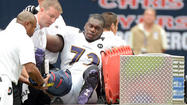 Kelechi Osemele avoids serious injury, sprains right ankle