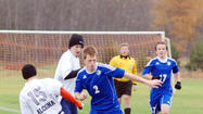 Jared Steiner scored all three goals for Lincoln-Alcona as they defeated Burt Lake Northern Michigan Christian Academy, 3-2, in a Division IV district title game Friday at the Click Road Soccer Complex in Petoskey.