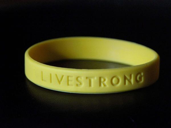 The Livestrong yellow bracelet.