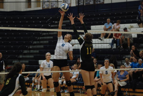 Petoskey senior Megan Tompkins had a team-high 75 kills Saturday as the Northmen won the Boyne City Carrie Bricker-Hauger Invitational.
