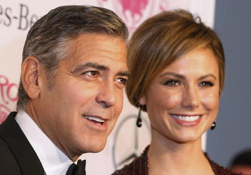 Actor George Clooney and girlfriend Stacy Keibler arrive at the 26th annual Carousel of Hope Ball in Beverly Hills, Calif., on Oct. 20. Clooney received the Ball's Brass Ring Award for his outstanding artistic achievements and his work as a humanitarian. The event benefits the Barbara Davis Center for Childhood Diabetes.