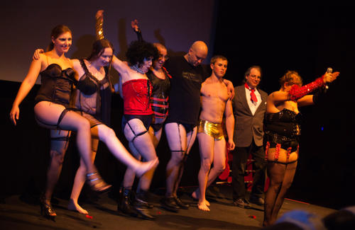 Pictures from the Rocky Horror Picture Show at the Steelstacks in Bethlehem on Friday, October 19, 2012