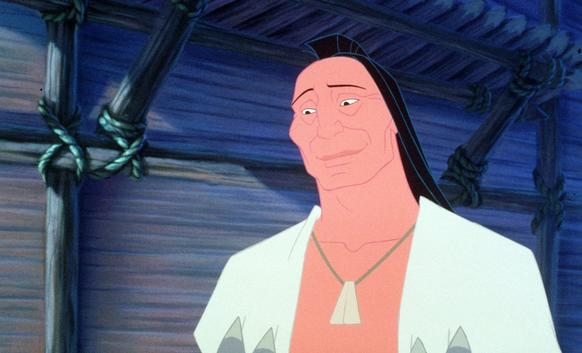 "Russell Means provided the voice of Chief Powhatan in the 1995 Disney movie ""Pocahontas."""