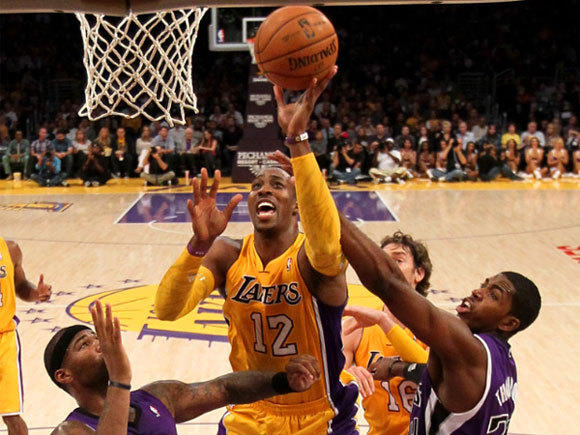 Dwight Howard, who made his Lakers debut in an exhibition game against Sacramento, will take on the Kings at Staples Center on Sunday night.