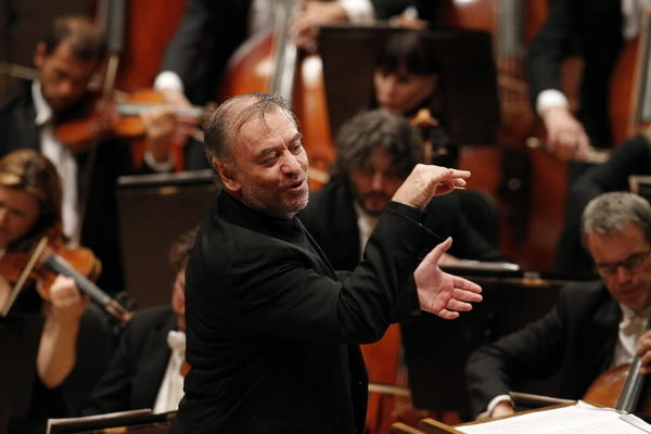 Conductor Valery Gergiev leads the World Orchestra for Peace at Symphony Center.