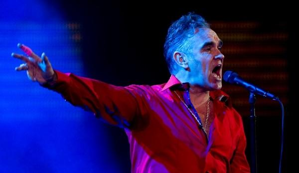 British singer Morrissey performs during the 53nd Vina del Mar International Song Festival on February 24, 2012 in Vina del Mar, Chile. (AFP PHOTO / MARTIN BERNETTI)