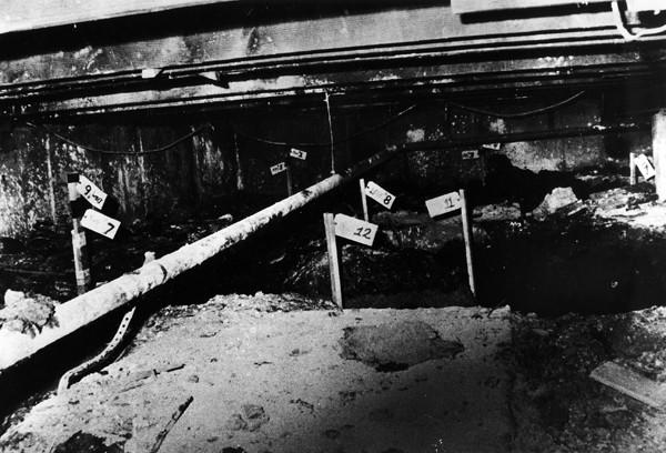 "This 1980 photo shows part of the crawl space in the home of John Wayne Gacy where he buried several of his victims. ""Devil You Know"" doesn't mention the home has been demolished."