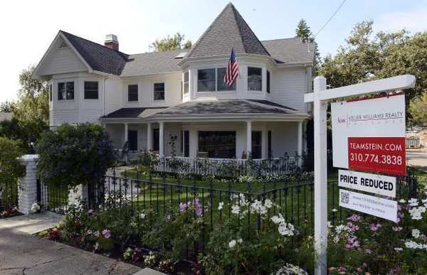 A house is on the market in Pacific Palisades.