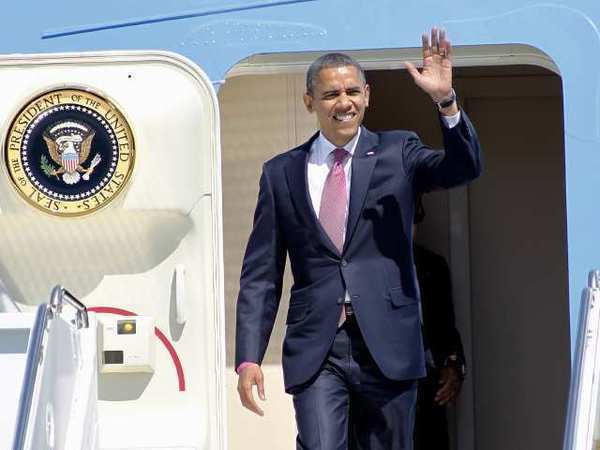 President Obama arrives in West Palm Beach, Fla., for his final debate with Republican Mitt Romney.