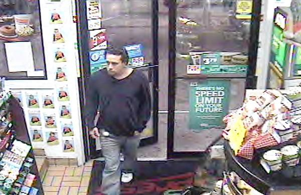 Surveillance photo at the Hess gas station at 802 Union Blvd., Allentown, shows a man who police say robbed the station at 10:20 p.m. Oct. 14.
