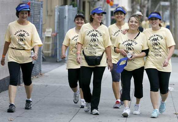 The Ararat Group of walkers participated in the Armenian Bone Marrow Donor Registry's 7th annual Walk of Life 2012 (Raul Roa/Staff Photographer)