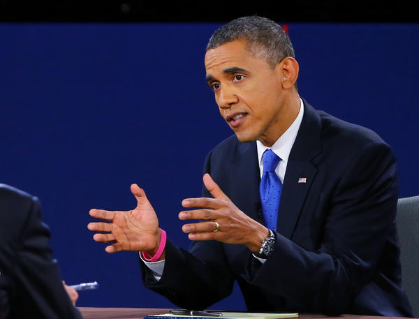 """President Obama quickly disputed Mitt Romney's statement that Obama was """"silent"""" about Iranian repression during the failed """"Green Revolution"""" in 2009. The two faced off at Lynn University in Boca Raton, Fla."""