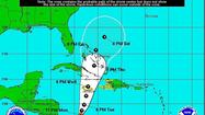 Tropical Storm Sandy emerged in the southwest Caribbean on Monday afternoon and for now is projected to remain clear of Florida.