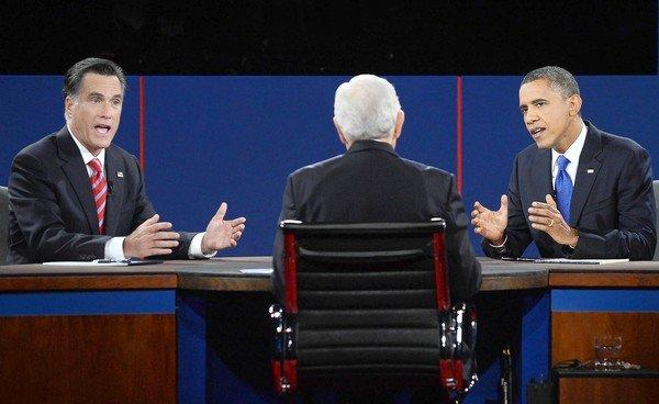 Republican challenger Mitt Romney and President Obama, with CBS' Bob Schieffer moderating, square off in their third and final debate.