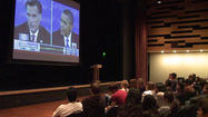SAN DIEGO - Nearly 200 students packed a University of California, San Diego auditorium Monday night to watch the third Presidential debate between President Obama and Mitt Romney.