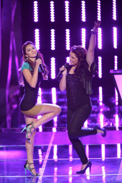 Devyn Deloera and MarissaAnn show off their moves on 'The Voice.'