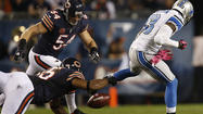 Ndamukong Suh had the knockdown of the night when he rocked Jay Cutler on a sack in the second quarter.