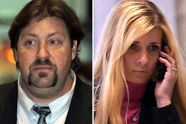 Anthony Abbate, left, and Karolina Obrycka at Dirksen U.S. Courthouse.