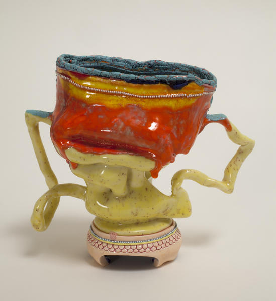 "Kathy Butterly's ""Cool Spot,"" 2012, clay and glaze, 5 x 5-1/2 x 3 inches."